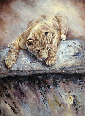 Painting - Pounce by Mary McCullah