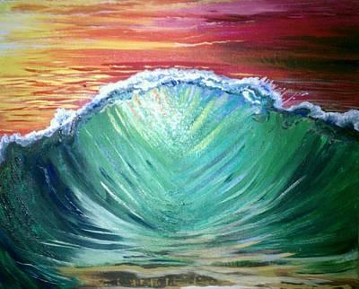 Pounding Shorebreak Art Print by Joe Fussner