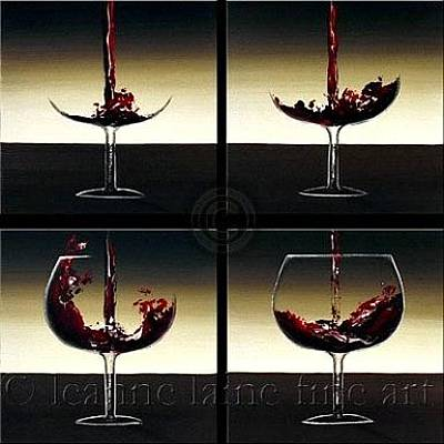 Wine Rack Painting - Pour Me A Glass Brown Motif Wine Art Painting by Leanne Laine