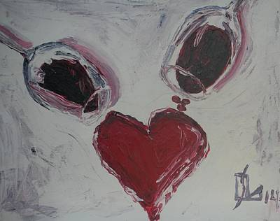 Painting - Pour Your Heart Out by Lee Stockwell
