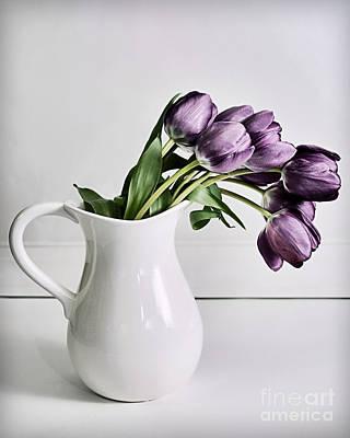 Pouring Purple Art Print