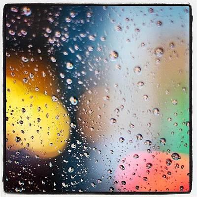 Raindrops Photograph - Bokeh Pouring Rain by Heidi Hermes