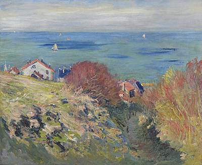 Monet Painting - Pourville by Claude Monet
