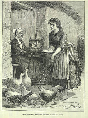 Poverty In Ireland Art Print by British Library