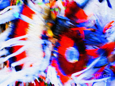Pow Wow Abstract Art Print