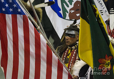 Pow Flag Photograph - Pow Wow First Nations 3 by Bob Christopher