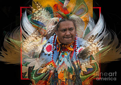 Digital Art - Pow Wow Graphic by Angelika Drake