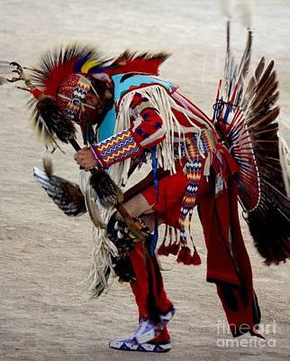 Drum Horse Photograph - Pow Wow by Veronica Batterson