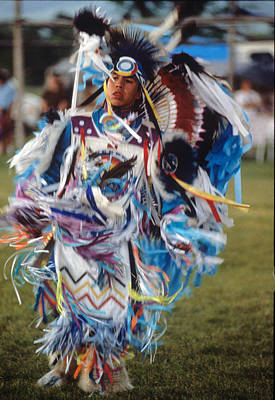 Photograph - Pow-wow -- Young Man Missoula Mt by Harold E McCray