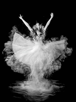Flour Photograph - Powder Burst by Pauline Pentony Ba