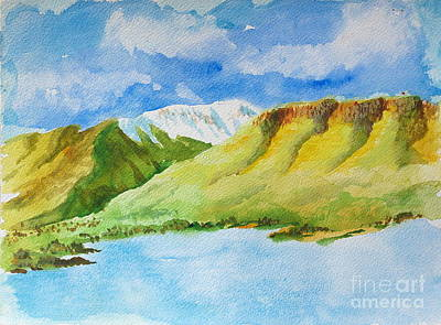 Painting - Powder Mountain From Ogden Valley by Walt Brodis