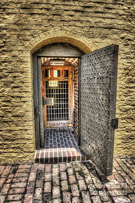 Photograph - Powder Room Outer Door by Dale Powell