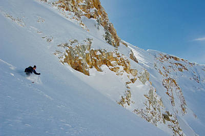 Big Cottonwood Canyon Photograph - Powder Skiing In Mill B South Fork by Howie Garber