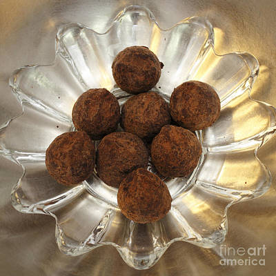 Photograph - Powdered Chocolate Truffles by Lee Serenethos