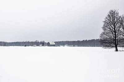 Nikki Vig Royalty-Free and Rights-Managed Images - Powdery Mix - Barn in Snow by Nikki Vig
