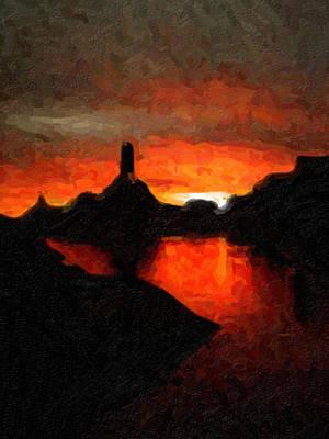 Digital Art - Powell Sunset by David Hansen