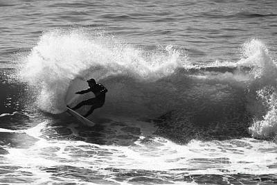 Power Carve Surfer Photo Art Print