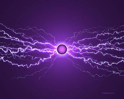 Amperage Digital Art - Power Field Purple by James Willoughby III