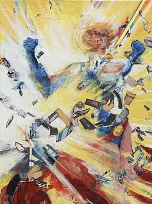 Painting - Power Girl by David Leblanc