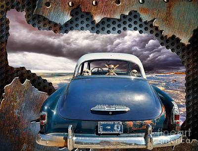 Metallic Sheets Digital Art - Power Glide Riding The Storm by Liane Wright