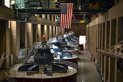 Photograph - Power House Turbines Hoover Dam by rd Erickson