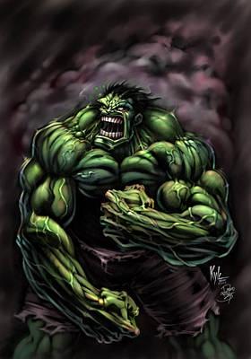 Incredible Hulk Digital Art - Power Hulk by David Bollt