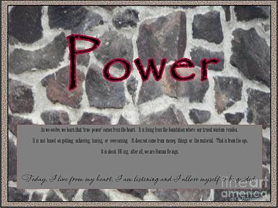 Listening Digital Art - Power In Stone  by Bobbee Rickard