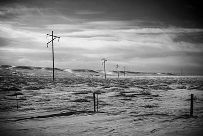 Power Line Horizon Print by Paul Bartoszek