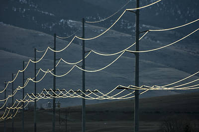 Photograph - Power Lines by Albert Seger
