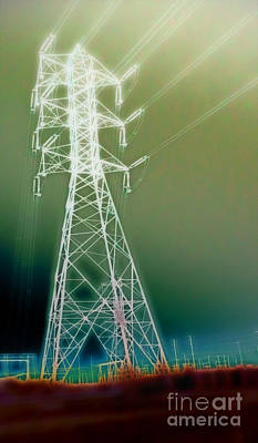 Power Lines Art Print by Gregory Dyer