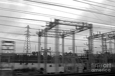 Electric Pylon Photograph - Power Lines by Tony Cordoza
