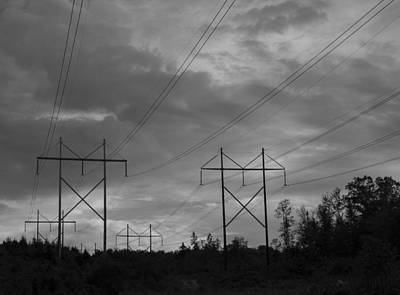 Power Lines  Art Print by Vance Bell