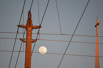 Photograph - Power - Moon - Power by rd Erickson
