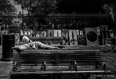 Photograph - Power Nap - Bw by Christopher Holmes