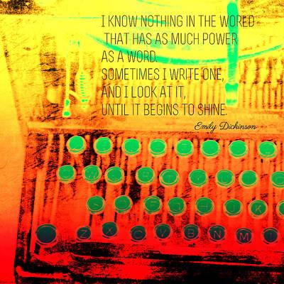 Digital Art - Power Of A Word by Bonnie Bruno
