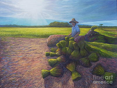 Farm System Painting - Power Of Determination And Faith by Isara Daengruan