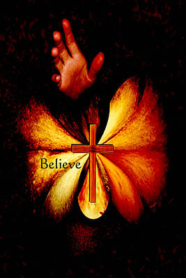 Digital Art - Power Of Prayer Believe by Paula Ayers