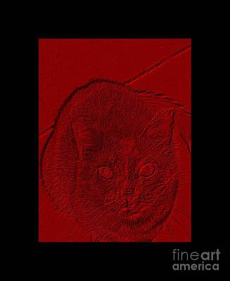 Digital Art - Power Of Red by Oksana Semenchenko