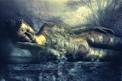 Buddha Statue Photograph - Power Of Silence by Joachim G Pinkawa