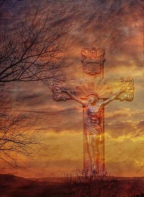 Power Of The Cross Art Print by Randy Steele