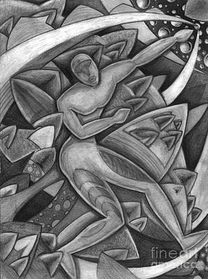 Person Drawing - Power Of The Dance - Reach by Mark Stankiewicz