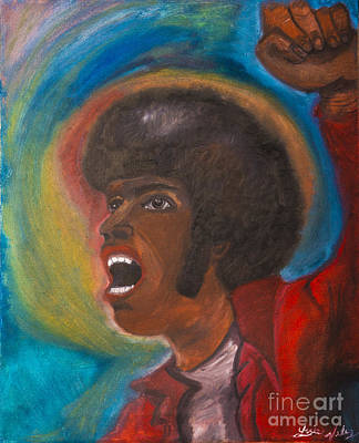 Hispanic Painting - Power Of The Fro by Luis Velez