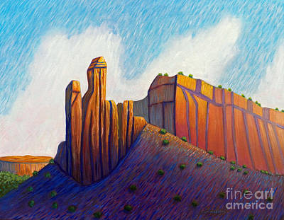 Abiquiu Painting - Power Of The Land by Brian  Commerford