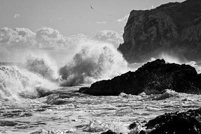 Denia Photograph - Power Of The Sea by Herbert Seiffert