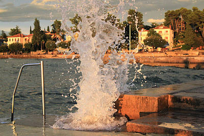 Photograph - Power Of The Sea Wave Crash by Brch Photography