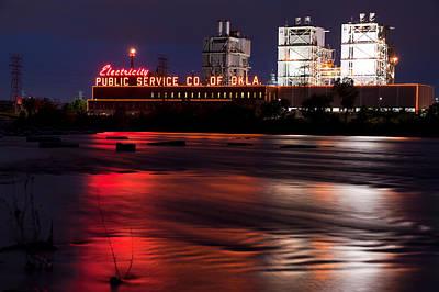 Photograph - Power On The River - Tulsa Oklahoma by Gregory Ballos