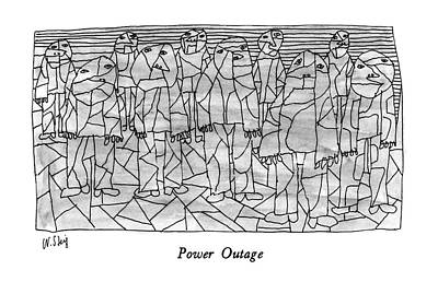 Power Outage Art Print by William Steig
