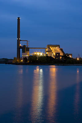 Lake Michigan Photograph - Power Plant by Adam Romanowicz