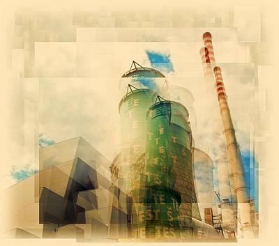 Cubism Wall Art - Photograph - Power Plant by Brut Carniollus