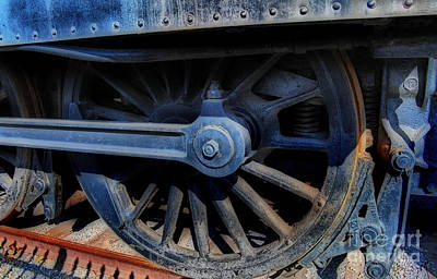 Locomotive Wheels Photograph - Power by Skip Willits
